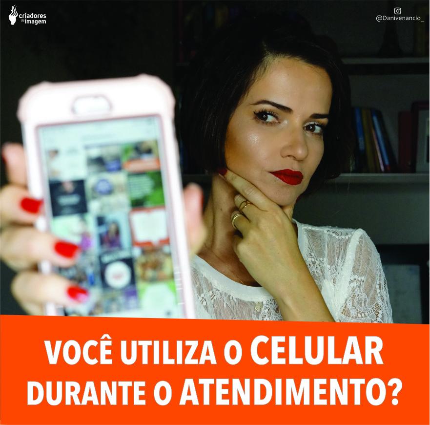 atendimento de clientes salão celular telefone