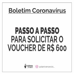 PASSO A PASSO PARA SOLICITAR O VOUCHER DE r$ 600